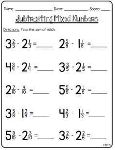Grade 5 Fractions Worksheet adding unlike fractions (With