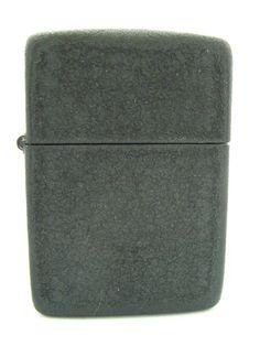 Perfect specimen of WWII-era Black Crackle Zippo lighter