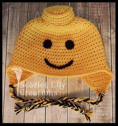 Ravelry: Lego Man Crochet Hat Pattern pattern by Jamie Huisman