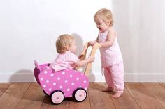 wooden pram for dolls by harmony at home children's eco boutique | notonthehighstreet.com