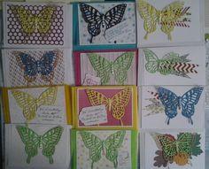 Schmetterlinge  bunt durch das Jahr mit Stampinup & Andere creativ  by maro