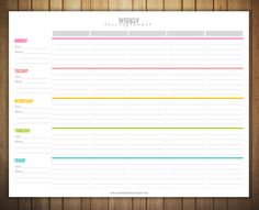 Free Printable Weekly Lesson Plan Template                                                                                                                                                                                 More