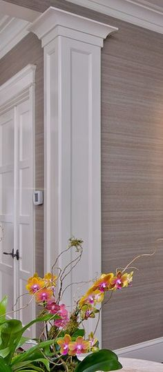 Interior Columns, Interior Trim, Interior Design, Moldings And Trim, Moulding, Molding Ideas, Wall Design, House Design, Beautiful Houses Interior