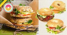 Un'idea originale e sfiziosa per un #pranzo veloce: ciambelle salate...E voi come farcireste questi invitanti #bagel ?