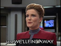 Great Love Stories, Love Story, Captain Janeway, Kate Mulgrew, Star Trek Voyager, Save The Day, Book Tv, Favorite Person, Female Characters