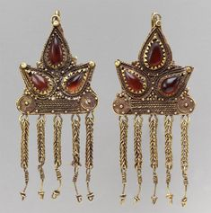 Sarmatian, Earrings, mid 1st century (source).