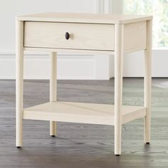 Shop Gia Cream Ash Nightstand. The nightstand provides bedside storage with a single drawer and open lower shelf. The Gia Cream Ash Nightstand is a Crate and Barrel exclusive. Unique Furniture, Kids Furniture, Custom Furniture, Furniture Making, Bedroom Furniture, Bedroom Decor, Master Bedroom, Bedroom Inspo, Bedroom Ideas