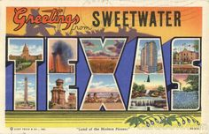 1948 Sweetwater TX Greetings from Sweetwaterl Large Letter Texas MC Cormick Co | eBay