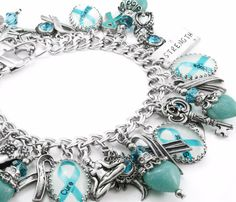 Ovarian Cancer Awareness Charm Bracelet