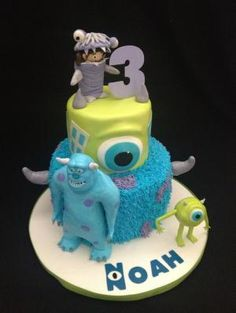Monster Inc Cake by elinor