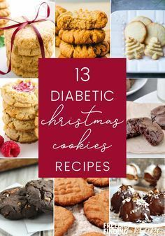 Think having diabetes means you can't enjoy Christmas cookies? Here are 13 delicious Diabetic Christmas Cookie recipes you'll love. Whether you are craving peanut butter cookies, snickerdoodle cookies or gingerbread cookies, weve got you cov Sugar Free Cookies, Sugar Free Desserts, Sugar Free Recipes, Low Carb Recipes, Diet Recipes, Diabetic Desserts Sugar Free Low Carb, Sugar Free Biscuits, Diabetic Sweets, Sugar Free Baking