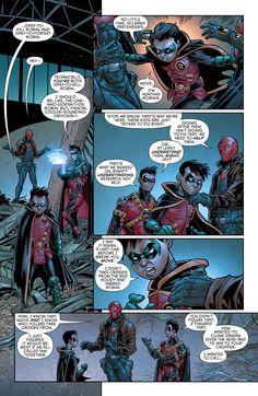 Robin War issue 1 page 20 Jason Todd, Tim Drake and Damian Wayne Nightwing, Batgirl, Catwoman, Damian Wayne, Batman Comic Art, Batman Comics, Batman Robin, Gotham Batman, Batman Arkham Origins