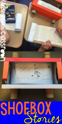Breathe some life back into your writer's workshop with these retro shoebox stories. Showcase a fiction story by turning it into a running television show in a box! The kids will LOVE this project.