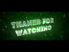 Thank For Watching - Intro Video First Youtube Video Ideas, Intro Youtube, Youtube Channel Art, Free Youtube, Youtube Editing, Video Editing Apps, Youtube Banner Template, Youtube Banners, Youtube Logo Png