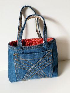 Denim gift bag by touchofdenim on Etsy