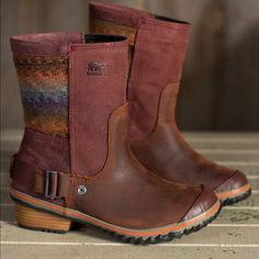 Sorel slimshortie booties in bonfire! Worn twice, these are amazingly cute! Perfect condition. SOREL Shoes Ankle Boots & Booties