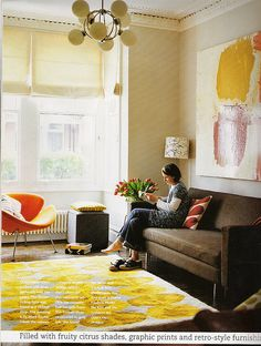Orla Kiely's living room