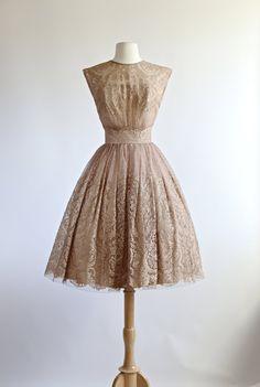 RESERVED FOR ELIZABETH// Vintage 1950s Dress by xtabayvintage