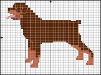 Rottweiler – Loving Confident and Loyal Cross Stitch Charts, Cross Stitch Patterns, Cross Stitching, Cross Stitch Embroidery, Dog Chart, Knitting Charts, Free Knitting, Dog Pattern, Beaded Animals
