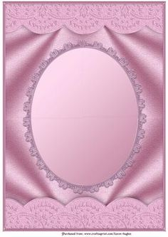 Pink Scallop Edged Oval Aperture Card Front on Craftsuprint designed by Karen Hughes - A beautiful bordered satin card front with mirror effect oval aperture edged in fancy metallic lace. Suitable for all those special occassions.Easily resized via printer packages and graphics software to enable you to create smaller cards, tags and toppers. All ready for you to add your own embellishments, senitments, etc.Other colours are available in this design so please click on my name to view them…