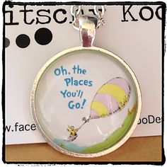 Oh The Places You'll Go book inspiration quote by KitschyKooDesign, $12.00   #book #inspiring #quote #gift #necklace