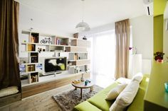 Apartamento pequeno - estante - ACHADOS DE DECORAÇÃO - blog de decoração