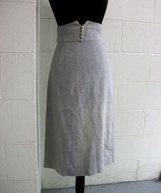 Grey vintage high waist skirt