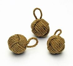 Miniature Monkey's Fist Rope Knot | Nautical Party Decorations