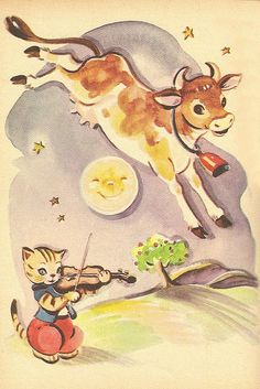 Glad to see that this old story book knew what color a cow should be!