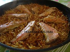 Hermanas Golosas: FIDEOS CON SALMONETES Pork, Beef, Noodles, Rice, Cooking, Sisters, Kale Stir Fry, Meat