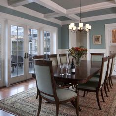 benjamin moore jamestown blue for dining room