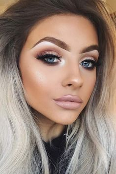 28 Super Sexy Looks und Make-up-Tipps für den Valentinstag - beauty Make Up Looks, Full Face Makeup, Skin Makeup, Makeup Brushes, Sexy Eye Makeup, Makeup For Blue Eyes, Subtle Eye Makeup, Highlighter Makeup, Bronzer