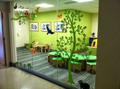 Awesome #vinyl design I did at the pediatric wing at a local hospital! Would be awesome for a #nursery or #daycare, too! #uppercaseliving #decor8life