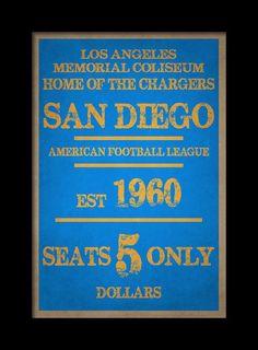 San Diego Chargers Framed Print By Joe Hamilton