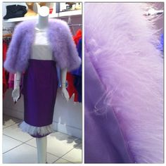 And here's the Lilac Ostrich Feather Jacket with Pure Silk Lining! (no ostriches harmed in the making! Ostriches, Ostrich Feathers, Pure Silk, Lilac, Pure Products, Couture, Jackets, Instagram, Down Jackets