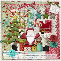 Scrapbookgraphics Christmas Blog Train mini kit freebie from Thaty Borges #digiscrap #scrapbooking #digifree #scrap #freebie #scrapbook