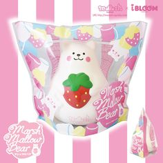 Amazon Coupon : 05OffHamee  Slow-rising for a more satisfying squish, genuine iBloom squishies are made with top quality materials and high quality paint to be as durable as they are adorable. The Marshmallow Bear in particular features an ultra-smooth exterior that's more fun to squish than ever! #Hamee #ibloom #squishy #squeeze