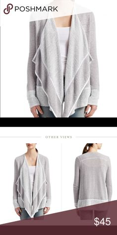 Grey and white fenre cardigan size l Large fenre cardigan calypso st Barth- sold out grey and white cotton poly blend very nice runs large so think xl Calypso St. Barth Sweaters Cardigans