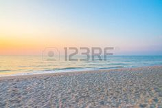 panoramic beach: Sunrise on the beach - vintage filter