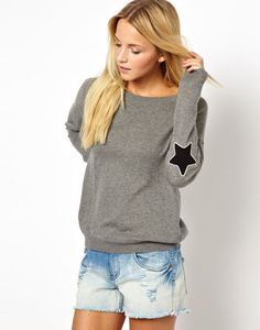 ☆ASOS☆トップス♪Jumper With Star Elbow Patch
