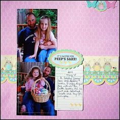 It's Easter For Peeps Sake Layout by May Flaum using Jillibean Soup's Southern Chicken Dumpling Soup collection (via the Jillibean Soup blog).