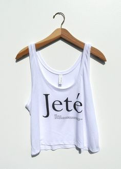 Cute Jete Ballet crop top for dancers! Limited Inventory! Get it now at www.danceridapparel.com
