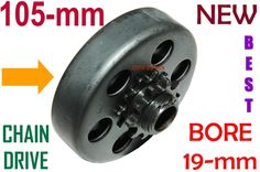 Clutch Pulley 105mm X 19mm Bore, Chain Drive