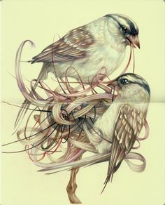 "Marco Mazzoni ""The Artisans"" (colored pencils and ink on moleskine paper)"