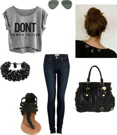 """Teen outfits / """"Back to School Outfit 1"""" by kaileyanncarter on Polyvore"""