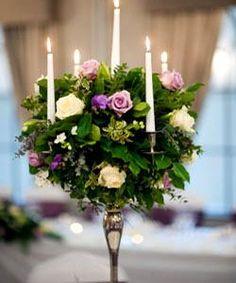 Candlestick Floral Centerpiece