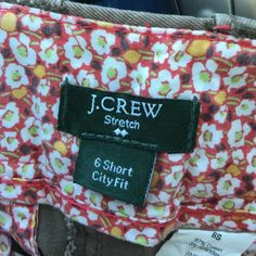 J crew chinos City fit in a taupe color. Size6 short J. Crew Pants Trousers