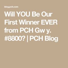 Enter to win and in just weeks, you could make history by becoming the first person to win a SuperPrize from the brand-new Giveaway Number, PCH Giveaway