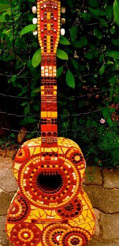 Mosaic guitar by Itsatreasure on Etsy, $500.00