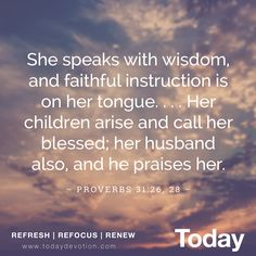In an intriguing twist, Proverbs uses an industrious wife and mother as its closing illustration of wisdom. #Proverbs31 #wisdom